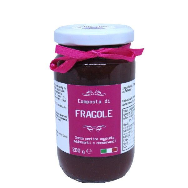 il Filo Rosso, strawberries premium jam, 200g