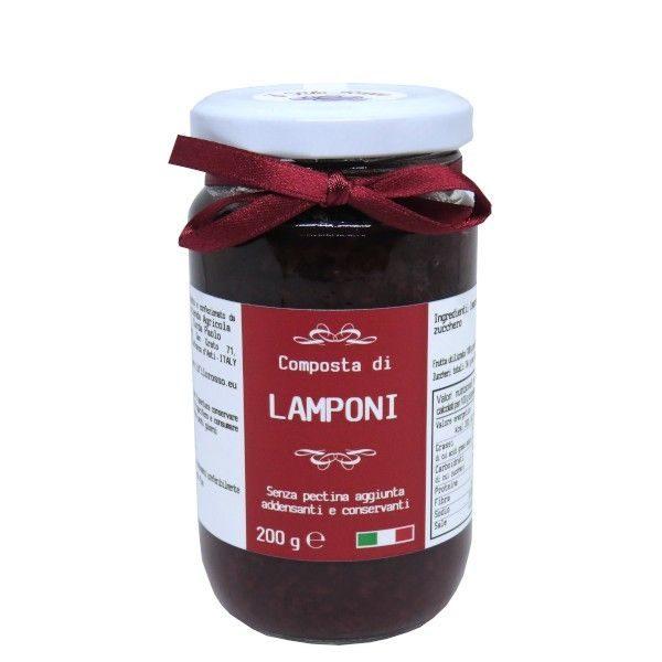 il Filo Rosso, mermelada extra de frambuesas, 200g