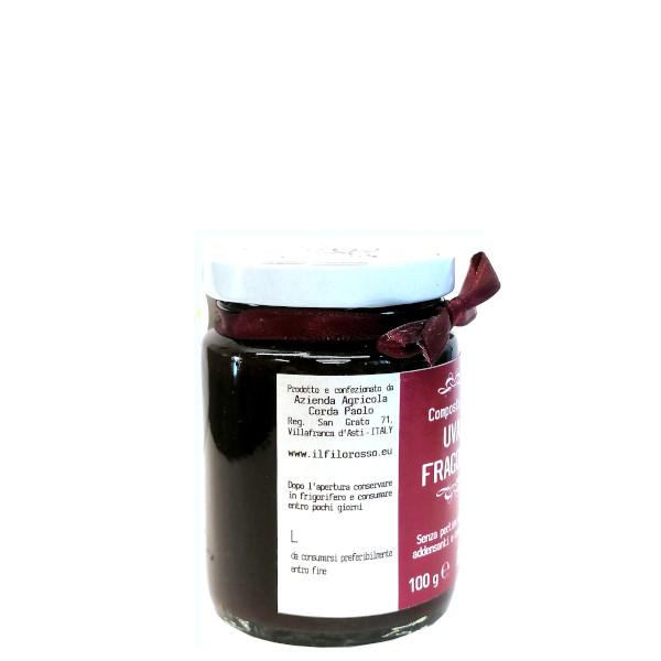 il Filo Rosso, composta di uva fragola 100g