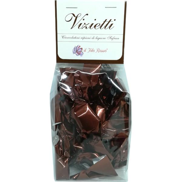 il Filo Rosso, Vizietti, cioccolatini al liquore di zafferano, 100g