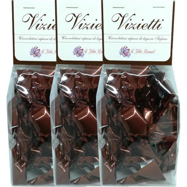 il Filo Rosso, Vizietti, cioccolatini al liquore di zafferano, 3 x 100g