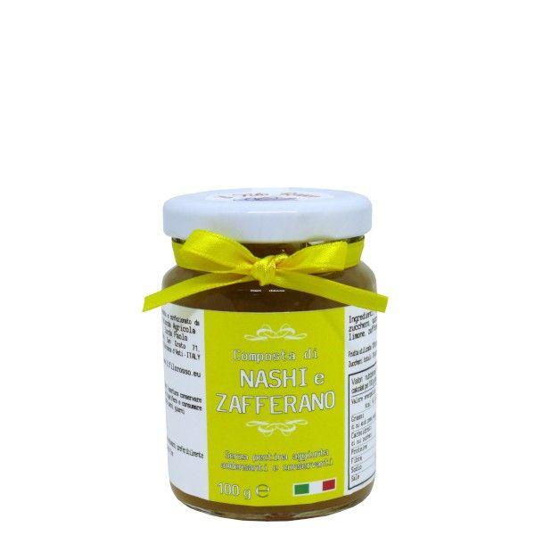 il Filo Rosso, nashi and saffron premium jam, 100g