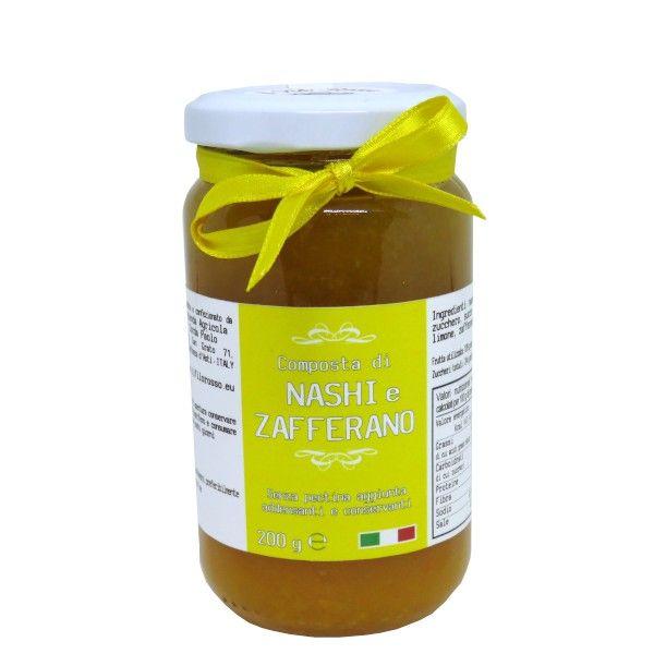 il Filo Rosso, nashi and saffron premium jam, 200g